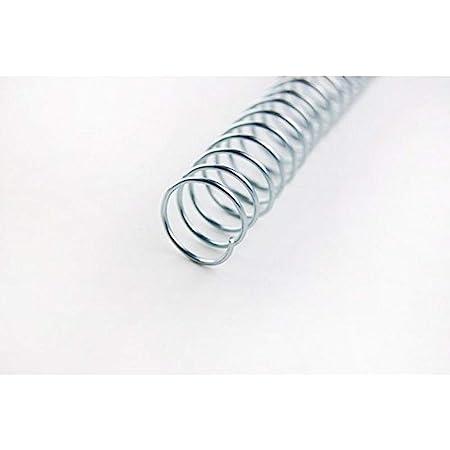 GBC 915106 Boîte de 100 Spirales métalliques 6 mm Noir