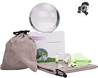 COCOScent Clear Crystal Ball Pouch Stand Art Decor K9 Crystal Prop Sphere Photography/Wedding/Home/Decoration