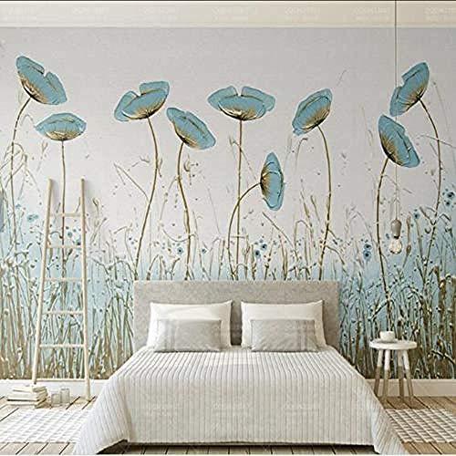 Fondos de fotos de hojas pintadas a mano para paredes Fondos de pantalla 3D para sala de estar Mural Pared Pintado Papel tapiz 3D Decoración dormitorio Fotomural sala sofá pared mural-400cm×280cm