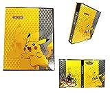 Porta Carte Pokemon, Raccoglitore Carte Pokémon, Album per Carte Pokemon GX, può ospitare 80 Carte a Caricamento Singolo o 160 a Doppio Caricamento (PIKAQIU)