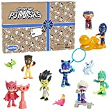 PJ Masks Deluxe Figure Set, 17 Pieces for PJ Masks Toys and Playsets