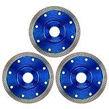 Disco da taglio diamantato, set da 3 pezzi per piastrelle e gres porcellanato, disco per smerigliatrice angolare (115 mm x 22,23 mm)