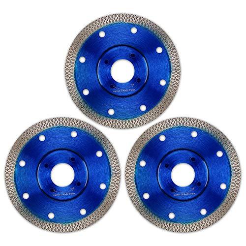 Disco de corte de diamante, 3 piezas para azulejos y gres porcelánico, para amoladora angular (115 mm x 22,23 mm)