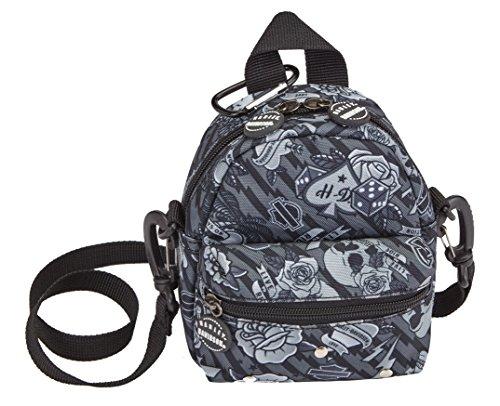 HARLEY-DAVIDSON Unisex-Erwachsene Mini Me Backpack Rucksack, Grau Tattoo, Einheitsgröße