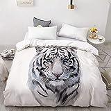 BEDSETAAA 3D Print Bettbezug, Bettdecke/Steppdecke/Kuscheldecke Queen/King, Bettwäsche Bettwäsche Animal Black Panther 155x215cm WG