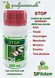 fitokem - stop corroborante contro insetti e parassiti in orto e giardino 250 ml