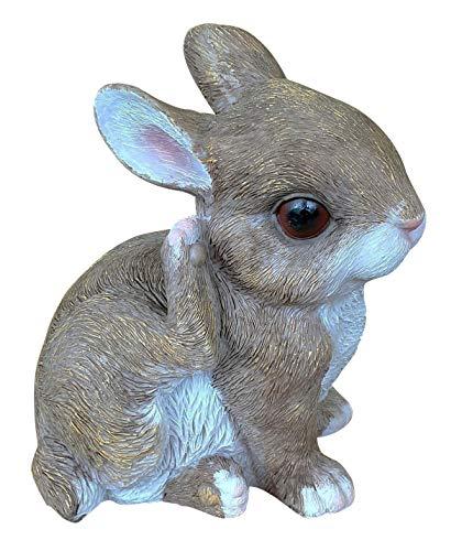 Dekofigur Hase Heini Kaninchen-Baby Indoor Outdoor Ostern Feldhase Gartendeko Hasenfigur Osterhase