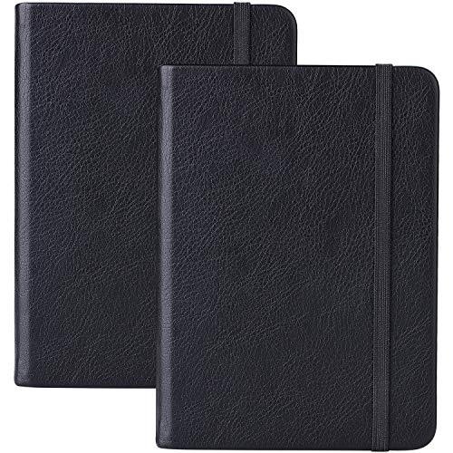 Pocket Notizbuch / A6 Notizbuch - Exekutive Hardcover Liniert Notizbuch mit Tasche + Seitentrenner, mit Seitenband, 160 Seiten für Jeden, A6, 14.5X10.5cm