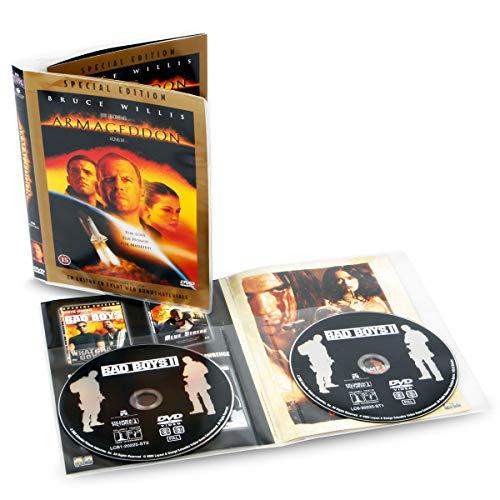 3L Fr 10280 Doppel-DVD-Hüllen, transparent, zum Aufbewahren von jeweils 2 Scheiben und 1 Deckel, 50 Stück