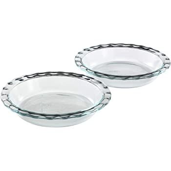 Pyrex Easy Grab Glass 9.5 Inch Pie Plate (2-Pack)