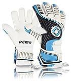 REMO Sports Giganto Flat Cut - Guantes de Portero (látex, Unisex, Talla 9), Color Azul Claro
