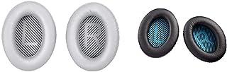 Bose QuietComfort 35 Headphones Ear Cushion Kit, Silver & Quiet Comfort 25 Headphones Ear Cushion Kit, Black