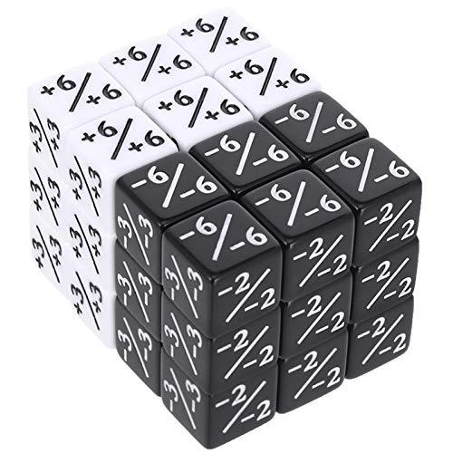 Firtink Juego de 36 dados, dados compatibles con MTG, CCG, juego de cartas