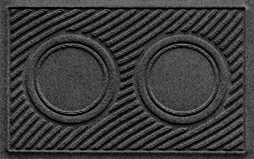 AquaShield Dog Bowl Wave Pet Feeder Mat, Charcoal, 18' x 27'