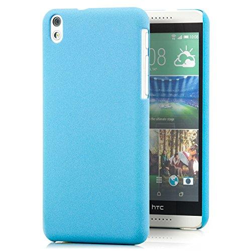 Saxonia HTC Desire 816 / 816G Hülle Hülle Slim Cover Schutzhülle matt Blau