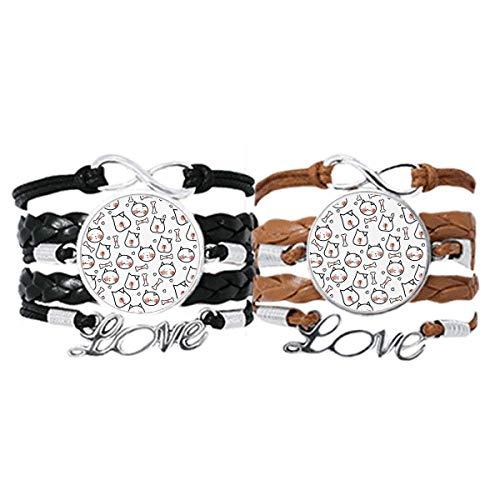 DIYthinker Armband für Hunde und Katzen, Knochenschutz, mit Handschlaufe, Lederseil, doppeltes Set