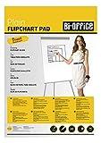 Bi-Office Bloc de papel para Pizarra Rotafolios, A1, Blanco, 20 Hojas por Bloc, con perforación, 55 g/m², Paquete de 5 Bloques