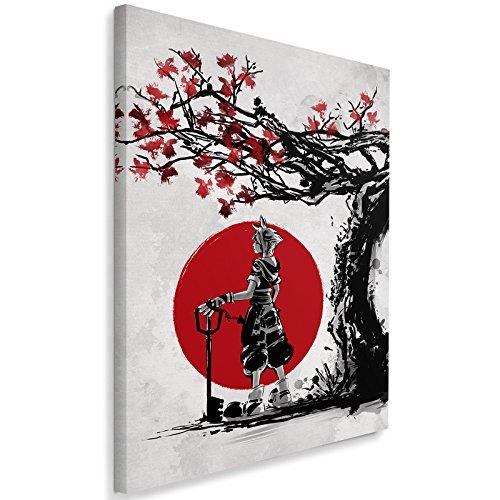 Feeby. Cuadro en lienzo - 1 Parte - 70x100 cm, Imagen impresión Pintura decoración Cuadros de una pieza, Keyblade Wielder 2 - DDJVigo, ANIME, COMIC, RED