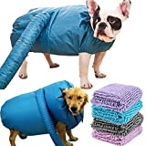CHANLAU Dog Dryer Bag Puff Hair |Extra Absorbent Towel Pet Supplies Dry | Quick Drying of pet Hair | Noise Reduction |Pet Bath Professional Tools | Large Dog Medium Dog Small Dog with Family Bath