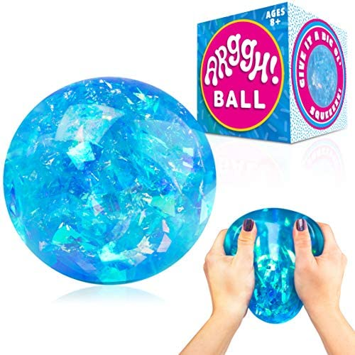 Power Your Fun Arggh Glitter Stress Ball for Adults and Kids Medium Squishy Stress Ball Fidget product image