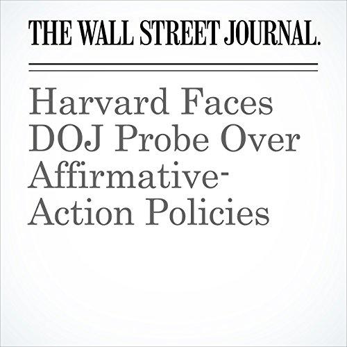 Harvard Faces DOJ Probe Over Affirmative-Action Policies copertina