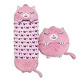 Niños Happy Sleeping Bag Almohada 2 En 1 Lavable Animal De Dibujos Animados Happy Game Saco De Dormir Almohada Plegable como Un Cojín Suave Y Cómodo Un Regalo Sorpresa para Niños