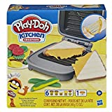Play-Doh Kitchen Creations Cheesy Sandwich Play Food Set for Kids 3 Years and Up Elastix Compound and 6 Additional Colors