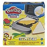 Play-Doh Kitchen Creations-Juego de alimentos para sándwich para niños a partir de 3 años con compuesto Elastix y 6 colores adicionales (Hasbro E7623)
