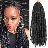6 Packs Marley Twist Braiding Hair 24 Inch Marley Hair Crochet Braids Long Afro Kinky Synthetic Kanekalon Fiber Marley...