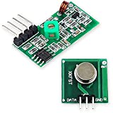 OcioDual Conjunto Módulo Emisor Receptor Transmisor Inalámbrico Sin Cables RF 433MHz para Robótica Electrónica Raspberry