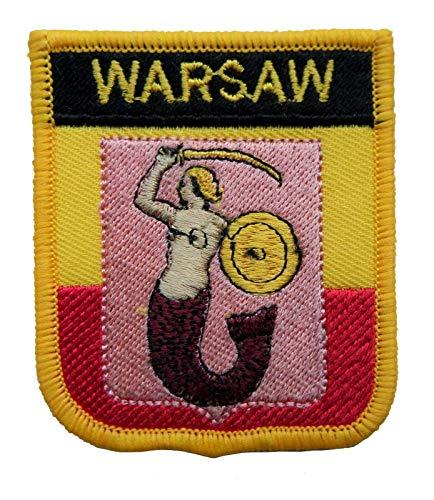 1000 Flaggen Warschau Polen Schild bestickt Patch Badge