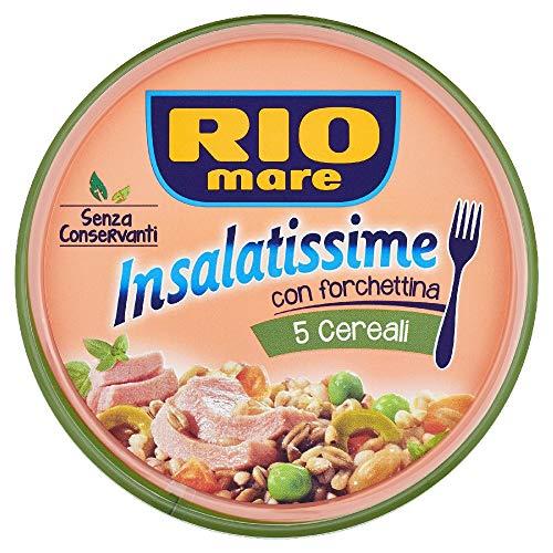 Rio Mare, Insalatissime 5 Cereali e Tonno con Grano Saraceno e Olive Verdi, Senza Conservanti, Forchetta Inclusa, 1 Lattina da 220 g