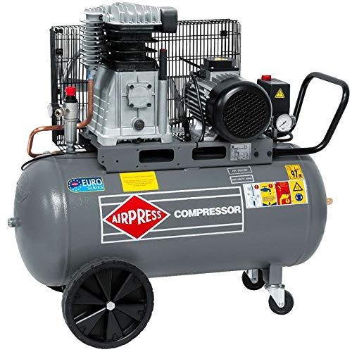 Airpress HK 600-90 - Compresor de aire comprimido (4 CV, 3 kW, 10 bar, 90 L, 400 V, HK 600-90)