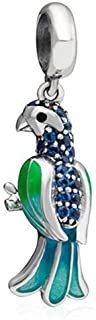 Dangle Charms Parrot Animal Beads - 925 Sterling Silver&Enamel Bird Beads - European Style Bead Charm Bracelet