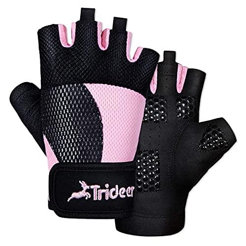 Trideer Workout Gloves for Women, Lightweight &...