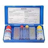 Tamar Test Kit Cloro y pH, Medidor del Cloro y PH del Agua de la Piscina, Gotas.