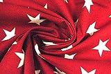 Swafing Westfalenstoffe Baumwolle Sterne rot 0,50m