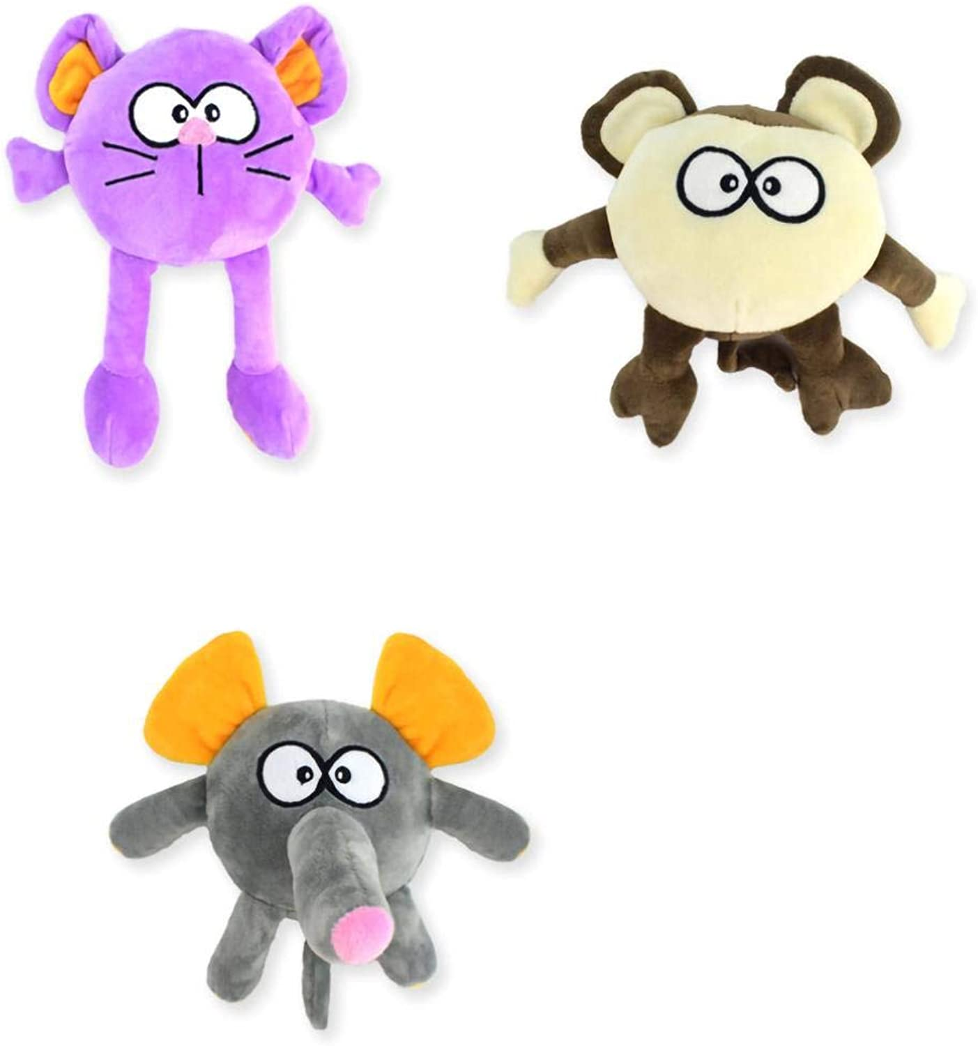 Aahaox Dog Plush Molar Stick Toy Puzzle Safety Environmental Predection Pet Sound Biteproof Toy (3 Pieces)