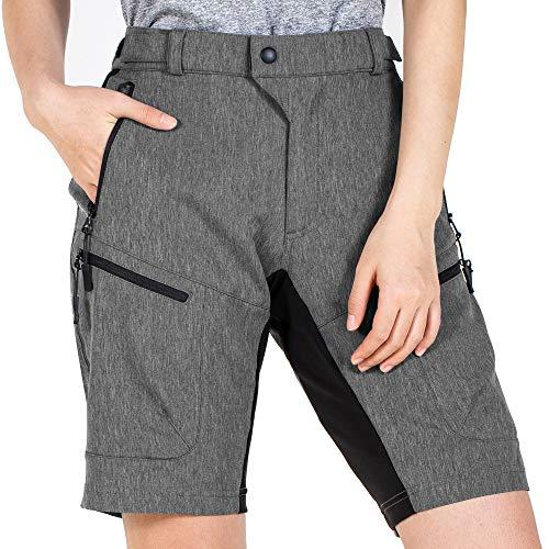 Cycorld Women's Mountain Bike MTB Shorts with Pocket Dark Grey