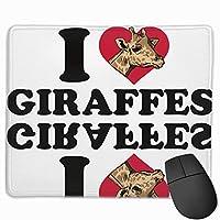 【2021新款】マウスパッドi Love Sweet Giraffe マウスパッドゲーミングマウスパッド大型ゲーミング滑り止めハイエンド流行のファッション防水耐久性滑り止めラバーボトム 25*30cm