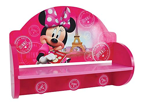 Fun House Disney Minnie Mensola Appendiabiti per Bambini, MDF, 46x 33x 15cm