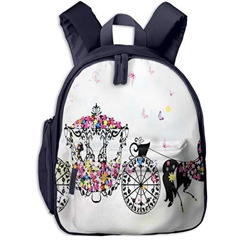 Kinderrucksack Kleinkind Jungen Mädchen Kindergartentasche Blumenwagen Backpack Schultasche Rucksack