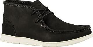 UGG Men's Hendrickson Chukka Boot,Black Leather,US 9.5 M