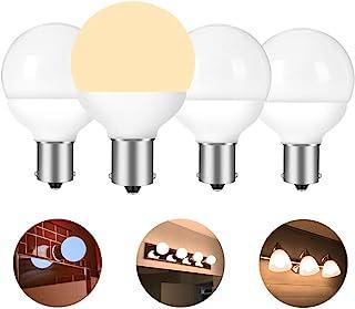 12 volt RV vanity led light bulbs BA15S 1383 1139 1156 1141 20-99 9019 replacement for 5th wheel Camper trailer Motorhomes Marine boat bathroom 30-40W equivalent soft white 3000K pack of 4