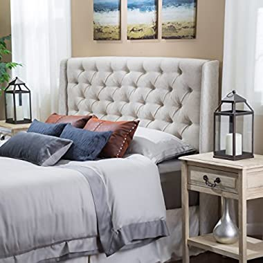 Christopher Knight Home Lidia Tufted Fabric Headboard, Beige
