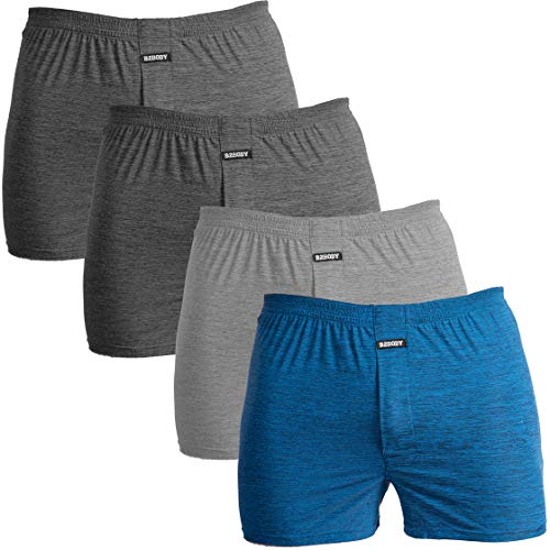 Breathable Boxers for Men Small to Big and Tall Cool Touch Boxer Underwear (Large)