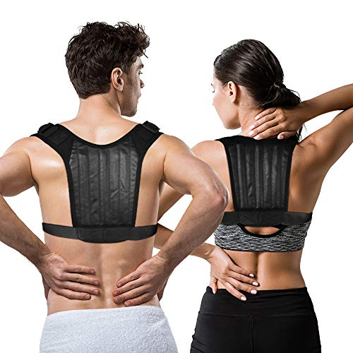 Haltungskorrektor für Männer und Frauen - Geradehalter für eine gute Körperhaltung, Atmungsaktiver Schlüsselbeinstütze - Wirksam bei Nacken, Rücken- und Schulterschmerzen,Lendenwirbelstütze (Unisex)