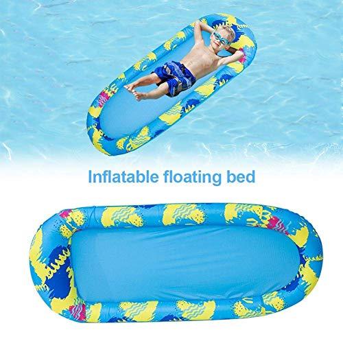 N /A WWCEEM Fila Flotante Inflable, Fila Flotante de natación Larga PVC Wear-resistaninflatable natación tobogán Conjunto de Juguetes para niños Water Floating Bed Toy