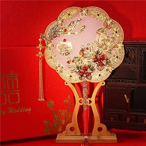 Albert Phoenix Mall Bride Chinese Hand-held Flower Produ Wo Finished Fan Show famous