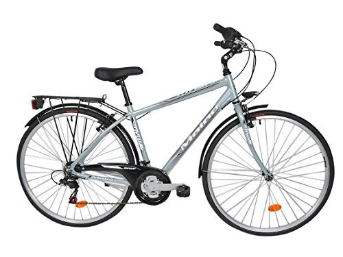 Maino My Way, Bicicletta Trekking Uomo, Argento, 48
